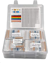 Cutequeen 134 Values 1% 3350 pcs RoHS Compliant Resistor Kit x 25pcs =3350 pcs (0 Ohm - 4.7M Ohm) 1/4W Metal Film Resistor...
