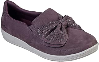 Skechers Women's Madison Ave - Curtsied Slip On Sneaker, Mauve, 8