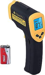 Etekcity 1080 Thermomètre Infrarouge Sans Contact Laser de -50°C à 550°C avec Ecran LCD Rétroéclairé, Pile fournie, Jaune,...