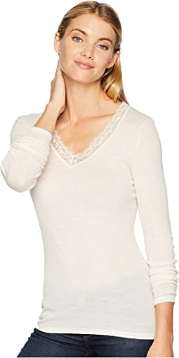 Woolen Lace Long Sleeve Shirt