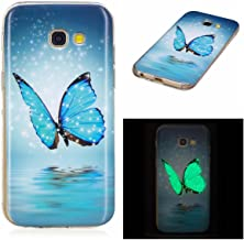 MEETER Samsung Galaxy 2017 Luminous Case  Soft TPU Transparent Back Cover Ultra Thin Slim Fit Non-Slip Anti-Scratch Durable Effect Fluorescent Night Glow The Dark Cover Case for