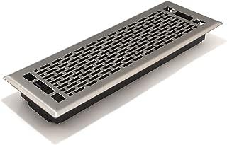 Accord AMFRSNMA414 Manhattan Floor Register, 4-Inch x 14-Inch(Duct Opening Measurements), Satin Nickel