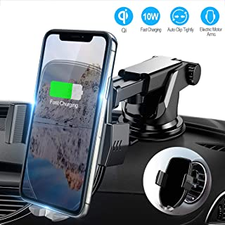 Wonsidary Wireless Car Charger Mount, 2019 Newest Qi Fast Charging Auto-Clamping Car Mount, CD Slot Air Vent Car Phone Holder for iPhone 11 Pro Max Xs Xr X 8 Plus Samsung Galaxy Note 10 9 S9 S8 S8+