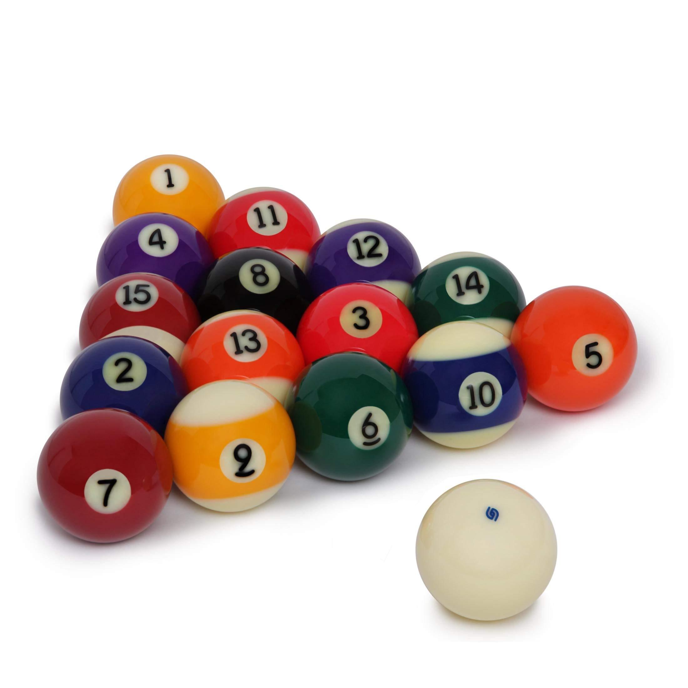 Aramith - Juego de 4 bolas de billar de 2 1/4 pulgadas, limpiador de bolas de billar, 8.4 onzas líquidas Funda para botella, paño de microfibra y bola Aramith: Amazon.es: Deportes y aire libre