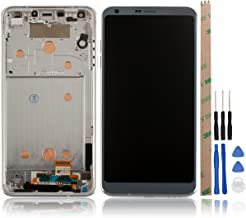 HYYT LG G6 US997 LS993 VS998 G600 G600S G600K H871 H870 H872 H873 Digitizer Replacement LCD Display Touch Screen Digitizer Glass Replacement Assembly LG G6 (Gray Frame)