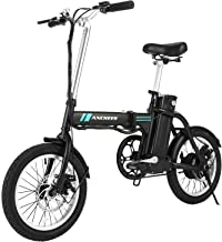 ANCHEER Folding Electric Bike, 16 Inch Collapsible Electric Commuter Bike Ebike with 36V 8Ah Lithium Battery (Black)