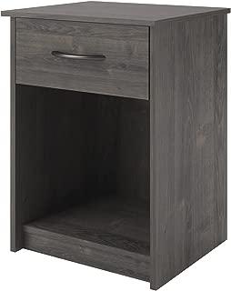 Ameriwood Home Core Night Stand, Dark Gray Oak
