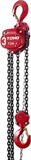 TOHO HSZ-622A OP Chain Block Hoist with Overload Protection (3 Ton, 20 Ft. Chain)
