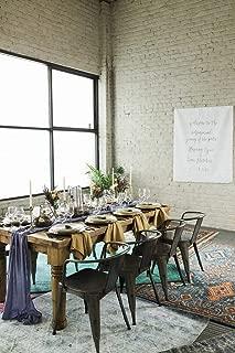 Table Runner Chiffon Bulk Silk Event Party Supplies Table Cloth Romantic Wedding Decor Handmade Chiffon Velvet Table Runner White Boho Vintage Woodland Greenery (Navy Blue, 60 in / 152 cm)