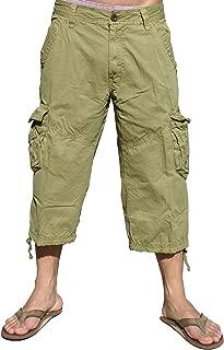 Mens Camouflage Cargo Capri Shorts #27CAC1/_C3