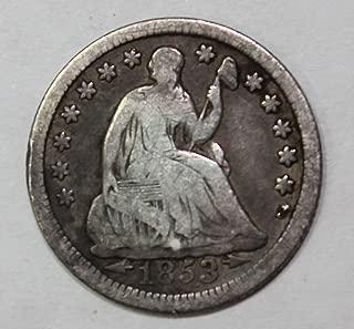 1853 P Seated Half Dime 5c Very Fine