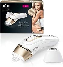 Braun Silk  Expert Pro 5 PL5137 Depiladora Luz Pulsada IPL, Última Generación, Depilación Permanente, Cabezal Precisión, Cara Y Cuerpo, Blanco/Dorado
