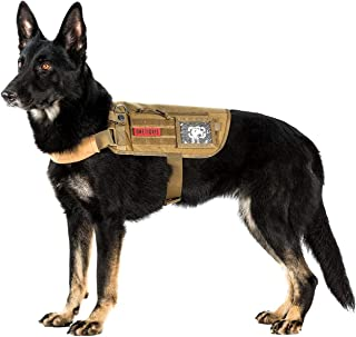 OneTigris Apollo 09 Tactical Dog Harness & Assistance Harness Compatible Vest & Dog Cape with Removable Neck Strap for Service Dog or Pet Dog