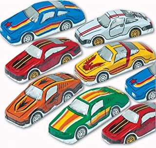 Madelaine Solid Premium Milk Chocolate Cars Wrapped In Italian Foil (Race Cars, 1/2 LB)