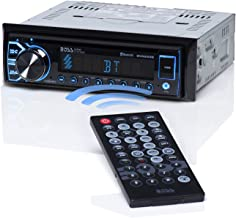 BOSS Audio BV6658B Car Stereo DVD Player – Single Din, Bluetooth Audio and Hands-Free Calling, Built-in Microphone, CD/DVD/MP3/USB/AUX Input, AM/FM Radio Receiver, LCD Display, Wireless Remote Control