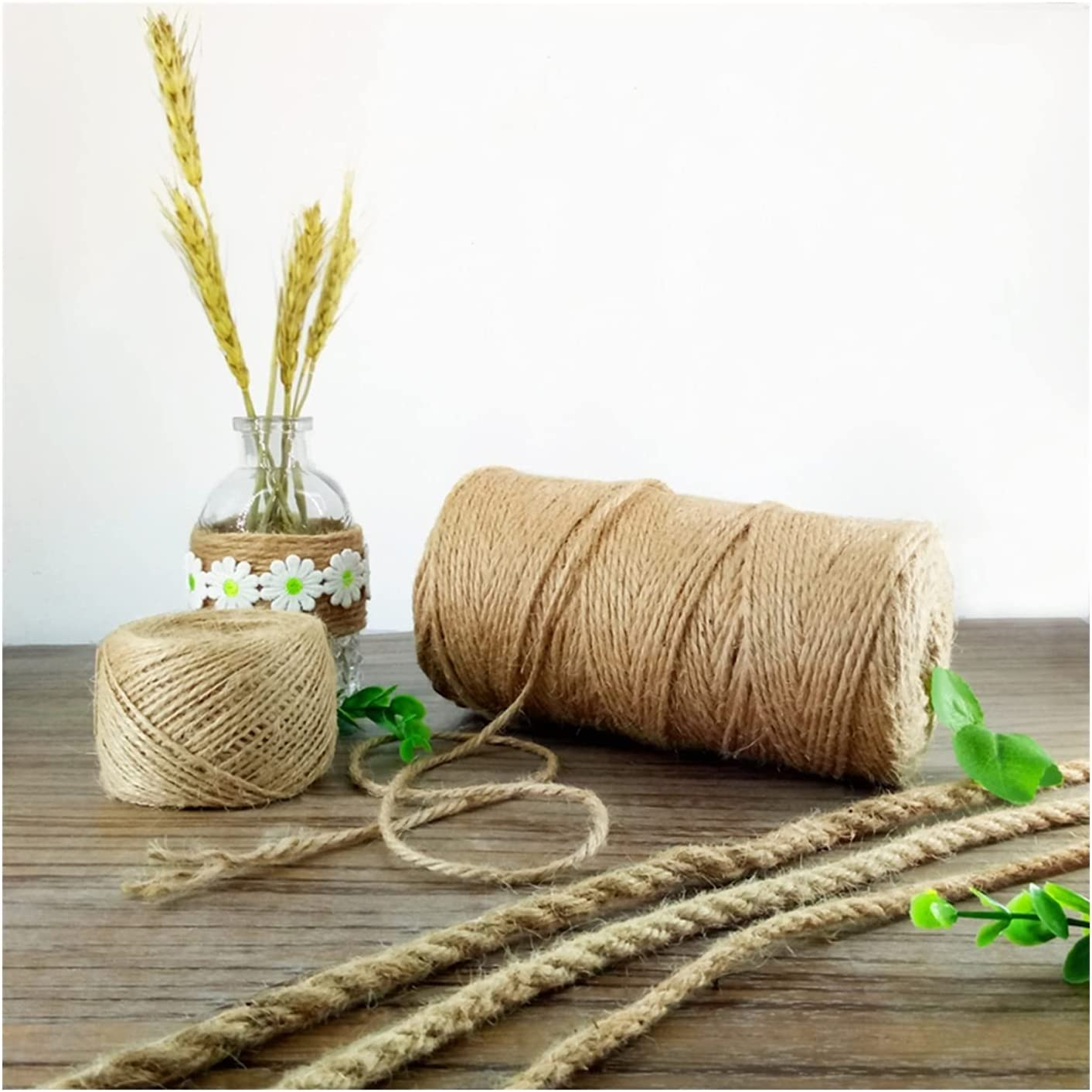 HJWMM Natural Jute Courier shipping free shipping Rope Multi Strong Purpose f Thick Weave wholesale