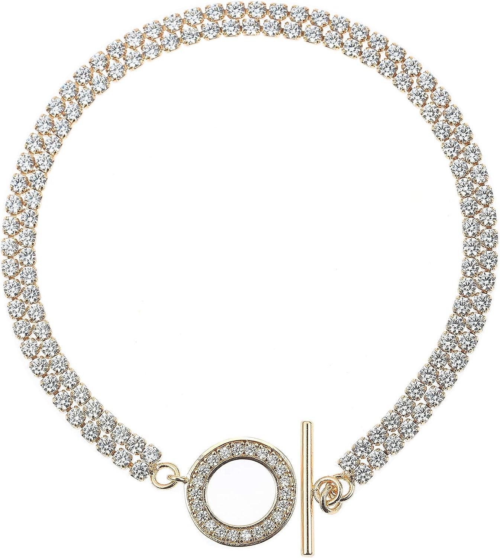 OMBX Max 66% OFF 18K Gold Plated Tennis Bracelet Zirconia 3A Cubic B Diamond 2021