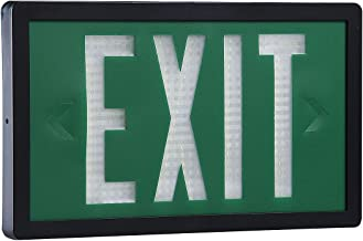 Isolite - SLX-60-S-10-G - 1 Face Self-Luminous Exit Sign, Green Background Color, Black Frame Color, 10 yr. Life Expectancy