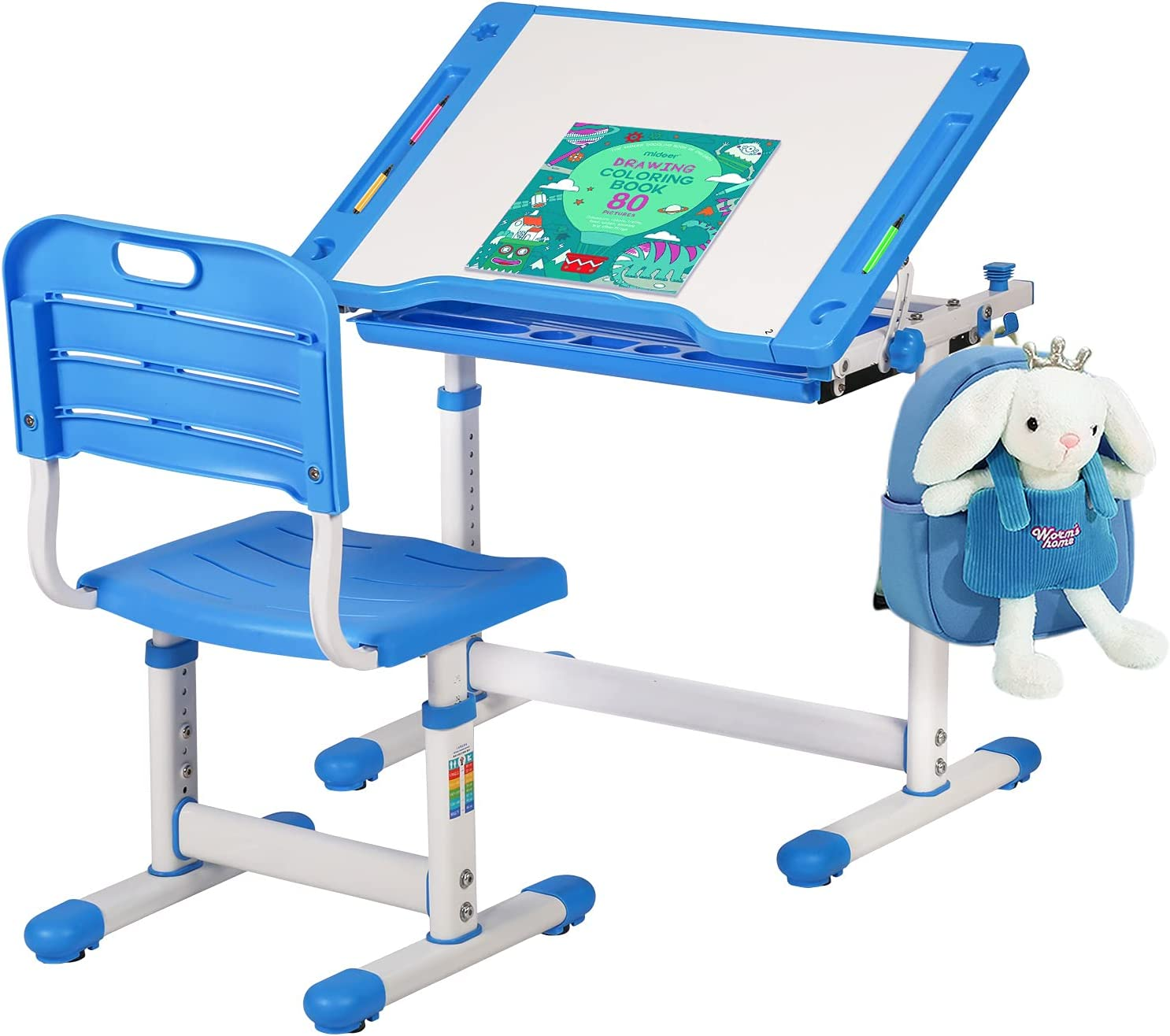 Challenge the Very popular! lowest price of Japan FDW Children Desk Kids and Chair Height Set Adjustable Stu