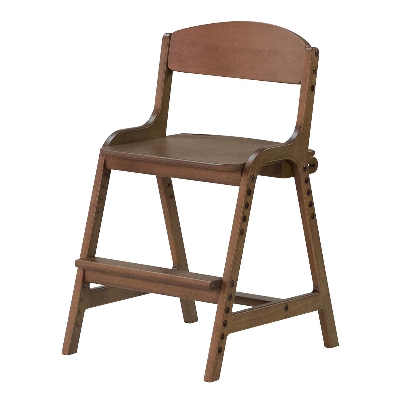 カビソフトウェア救いISSEIKI 学習チェア 子供用 幅45【組立品】ミディアムブラウン 天然木のぬくもり 高さ調節可能 木製 キッズチェア 学習椅子 一人掛け AIRY DESK CHAIR (MBR)