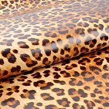 yazi Sexy Leopard Print Self-Adhesive Removable PVC Wall Sticker Shelf Drawer Liner,18-Inches by 33-Feet