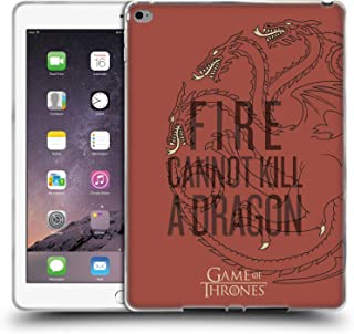Official HBO Game of Thrones Targaryen Season 8 for The Throne Art Soft Gel Case Compatible for iPad Air 2 (2014)