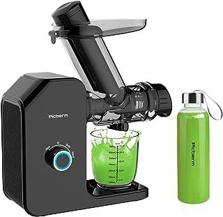 Licuadora Slow Juicer Picberm de boca ancha, exprimidor de zumo sin BPA, fácil limpieza de frutas y verduras, con motor si...