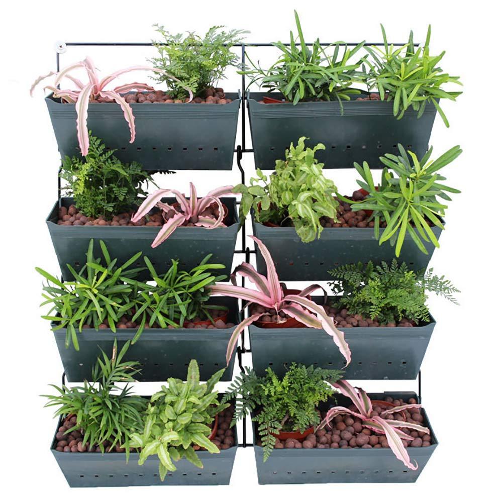 ZDYLM-Y Bolsillos jardín Vertical Pared, 4 Capas Verde Pared Vertical del plantador, 8 totales Pockets En Este Conjunto, para Las Hierbas Vegetales y Flores: Amazon.es: Deportes y aire libre