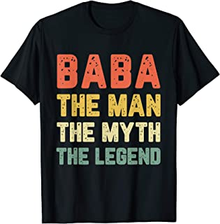 Baba The Man The Myth The Legend Vintage Gift T-Shirt