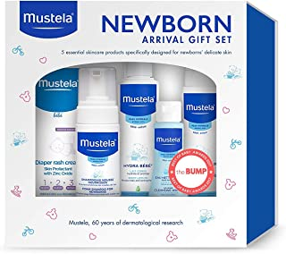 Sponsored Ad - Mustela Newborn Arrival Gift Set - Baby Skincare & Bath Time Essentials - Natural & Plant Based - 5 Items Set
