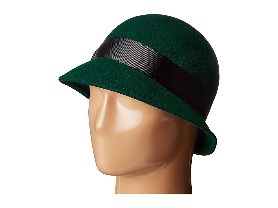 1930s Style Hats | 30s Ladies Hats Betmar Emma Emerald Caps $50.00 AT vintagedancer.com
