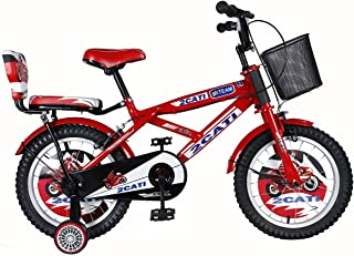 """Vaux Bicycle for Kids- Vaux 2Cati 16T Kids Bicycle for Boys. Ideal for Cyclist with Height (3'5"""" – 4') – Red"""