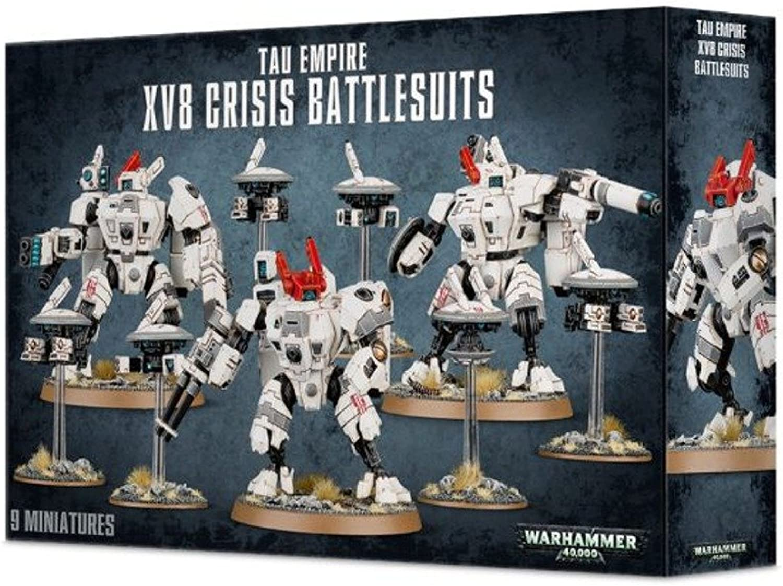 XV8 CRISIS BATTLESUIT Warhammer 40000 TAU EMPIRE 9 miniature Citadel giocoS lavoronegozio 12+ 40K