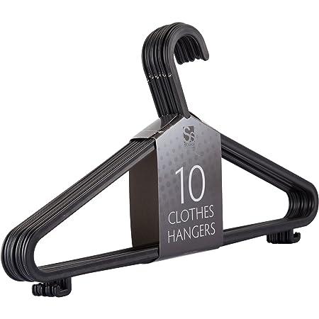 Kleiderbügel mit Steg Garderobenbügel Kunsttsoff stabil 5 Stück Jackenbügel