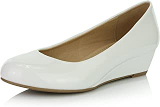 Women's Comfortable Fashion Low Heels Round Toe Wedge Pumps Shoes