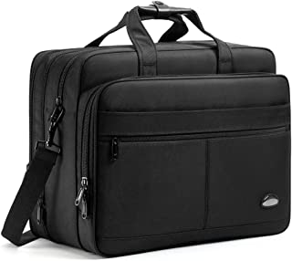 18-18.5 inch Laptop Bag,Water Resisatant Business Laptop Briefcase,Expandable High Capacity Shoulder Bag,Nylon Multi-Functional Shoulder Messenger Bag for Men Fits 17 inch Loptop,Computer,Tablet