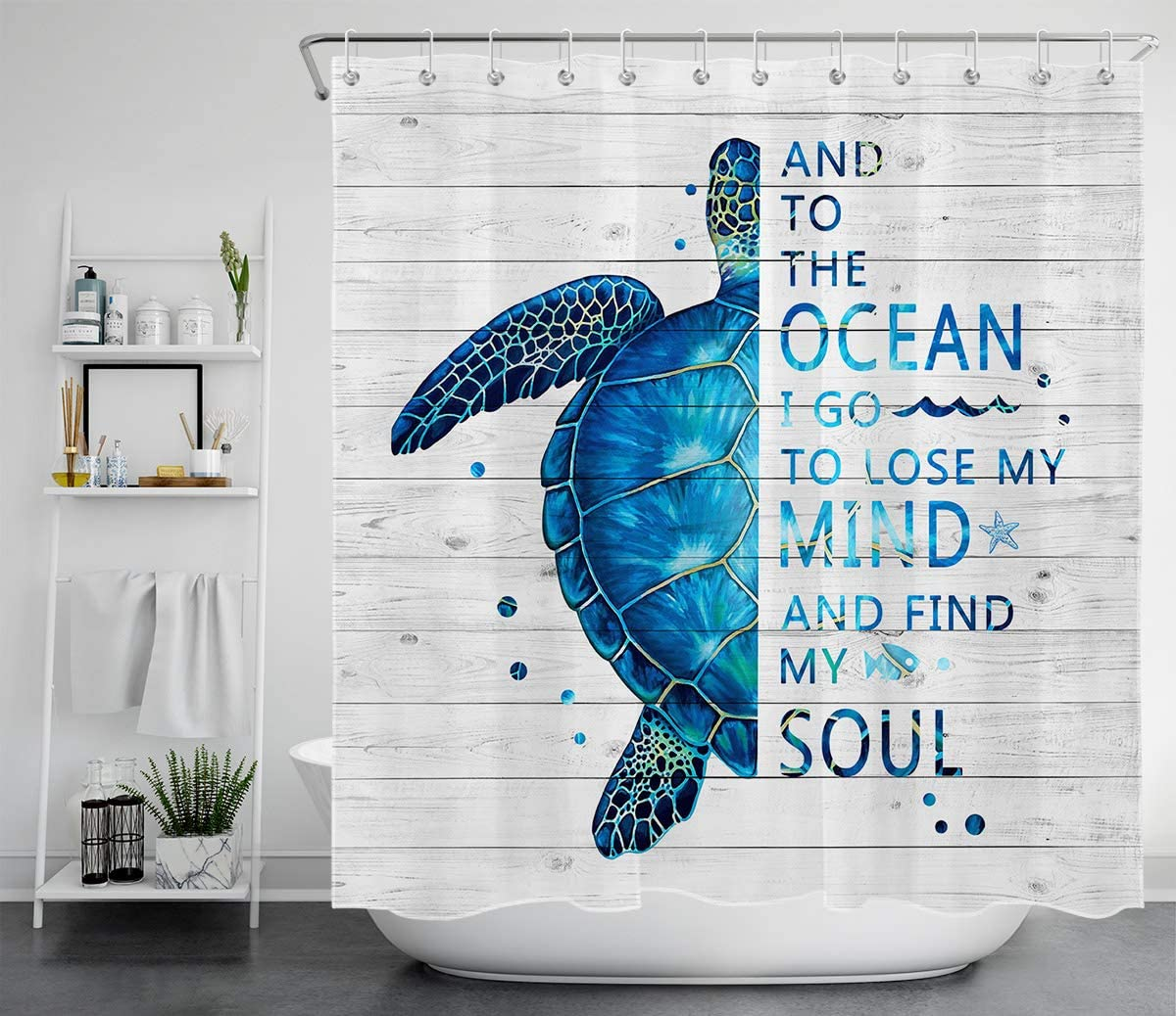 HVEST Large-scale sale Sea Turtle Mesa Mall Shower Curtain Creatur Bule Ocean Marine