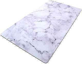 Imagine Printed Surface Non-Slip Multi Purpose Desk Pad, Photo background 31.5x17 inch (Marble) (Marble)