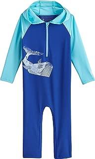 Coolibar UPF 50+ Baby Finn Hooded One-Piece Swimsuit - Sun Protective