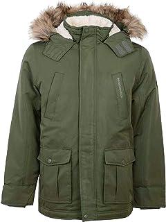 Crosshatch New Mens Heavy Fur Fleece Lined Hood Parka Padded Winter Coat Jacket