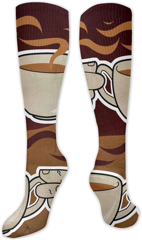 Cheers Of Coffee Knee High Socks Leg Warmer Dresses Long Boot Stockings For Womens Cosplay Daily Wear