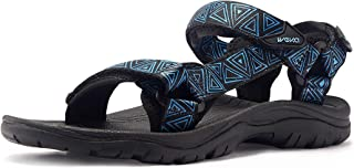 ATIKA Men's Outdoor Hiking Sandals, Open Toe Arch Support Strap Water Sandals, Lightweight Athletic Trail Sport Sandals