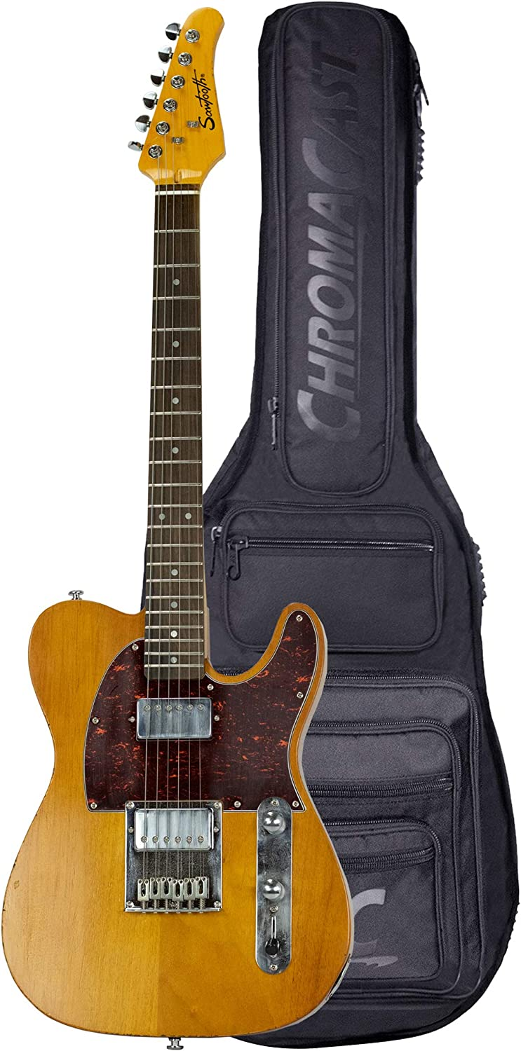 Sawtooth Our shop OFFers the best service ET Relic Electric Guitar Natural Pickgua with Tortoise Fort Worth Mall
