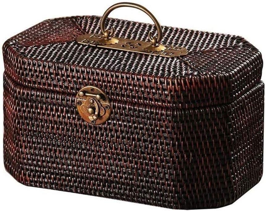 EEGUAI Retro Rattan Tulsa Mall Suitcase Atlanta Mall Picnic Brown Basket