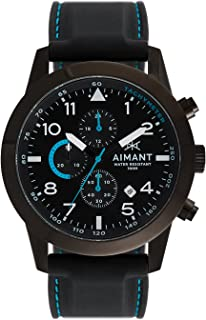 AIMANT Berlin Cronograph Watches | 47 MM Men's Analog Watch | Silicone Strap