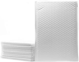 Innovative Haus 7 x 12 Inch Padded Envelopes Pack of 25 White Poly Bubble Mailers. Self Adhesive Water Resistant Lightweig...