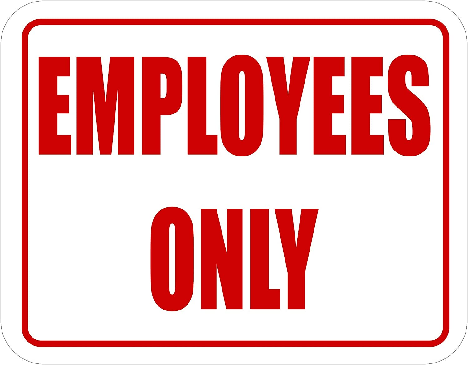 """Employees ONLY - Plastic 7""""x 2021 spring and summer new 5.5"""" Door Self Adh with Save money Sign Wall"""