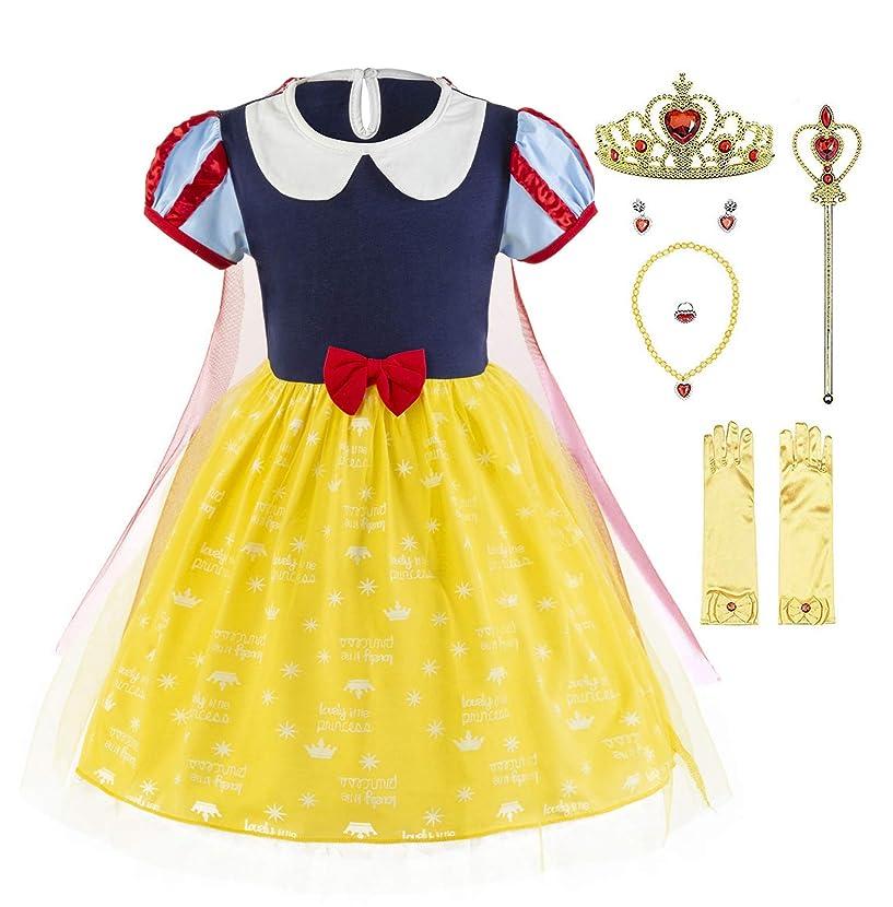 Padete Baby Girl Princess Anna Alice Elsa Little Mermaid Snow White Dress Costume