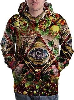 Illuminati All seing Eyes Masonic Freemason DMT Drug Trippy Hippie Psychedelic Full 3D Print Hoodie Sweaters