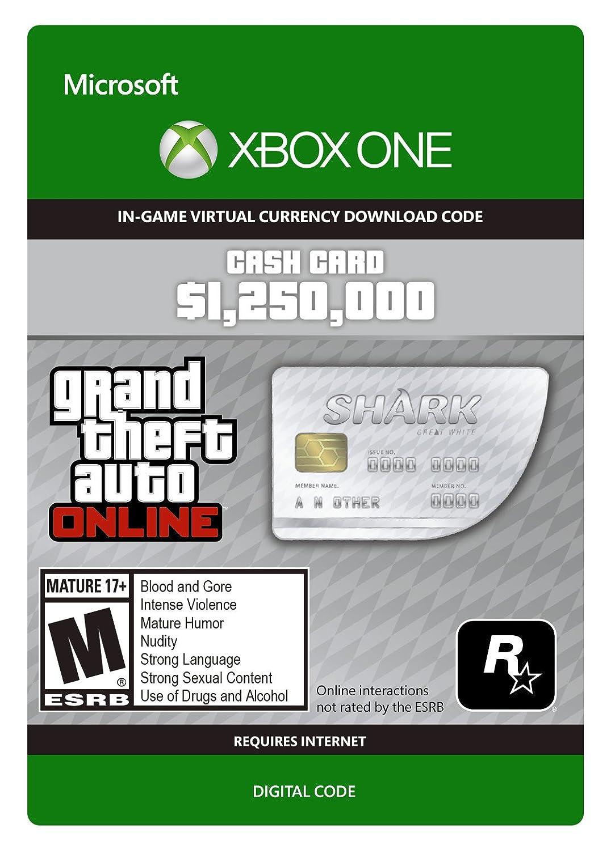 Grand Theft Auto V: Great White Bombing Popular new work Shark Cash Card - One Xbox Digi